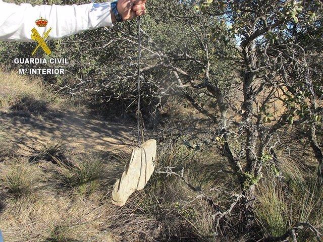 Segovia: piedras de contrapeso para tensar el cable