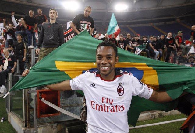 El jugador brasileño Robinho en su etapa en el AC Milan