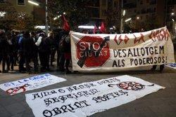 Una trentena de persones es concentra a Lleida per protestar contra el desallotjament del CSO La Chispa (ACN)