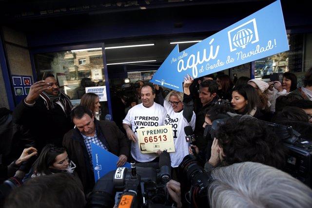 Lotería de Navidad en Madrid