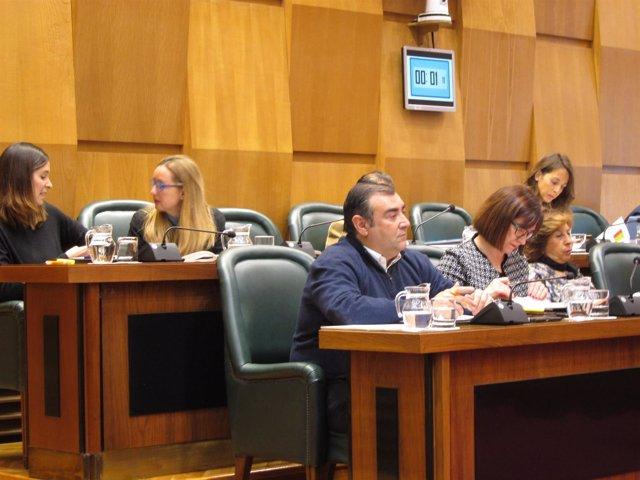 Grupo municipal de Ciudadanos en el pleno del Ayuntamiento.
