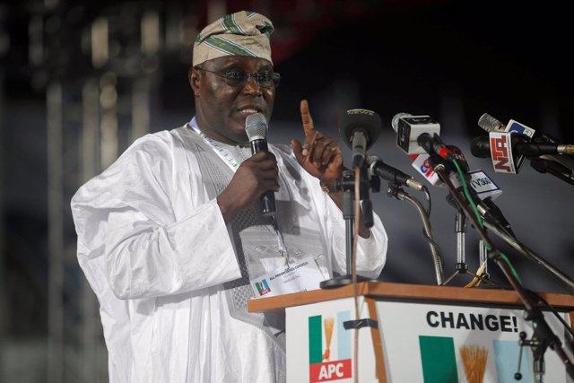 El exvicepresidente de Nigeria Atiku Abubakar