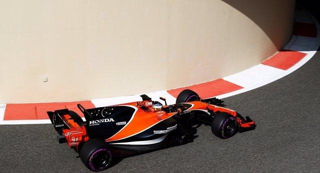 Fernando Alonso (McLaren) en Abu Dabi