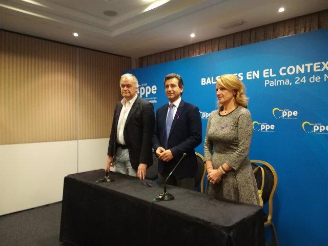 Esteban González Pons, Biel Company Y Rosa Estarás