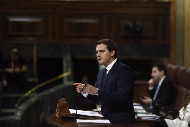 Albert Rivera en el debate sobre el cupo vasco en el Congreso