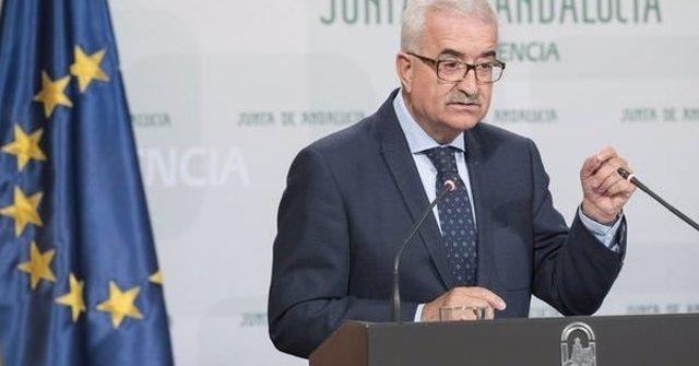 El vicepresidente de la Junta, Manuel Jiménez Barrios