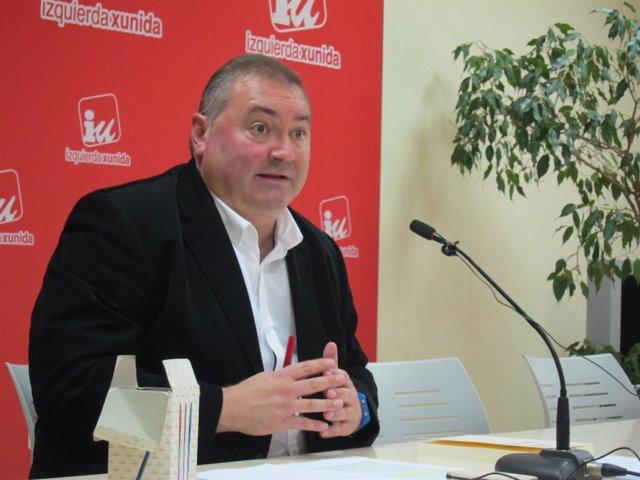 El coordinador regional de IU en Asturias, Ramón Argüelles