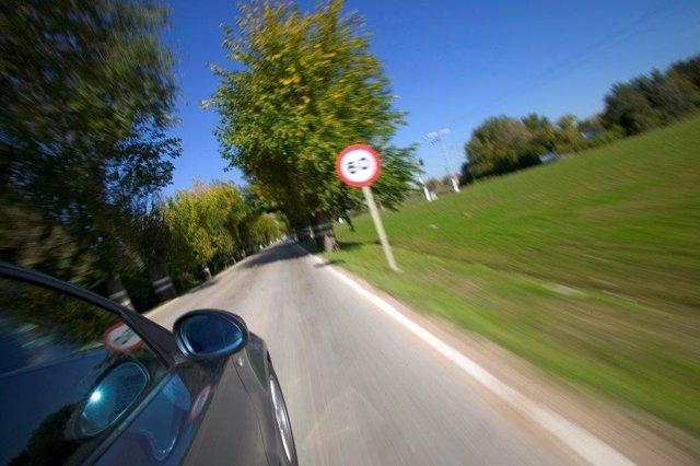 Velocidad en carreteras secundarias.