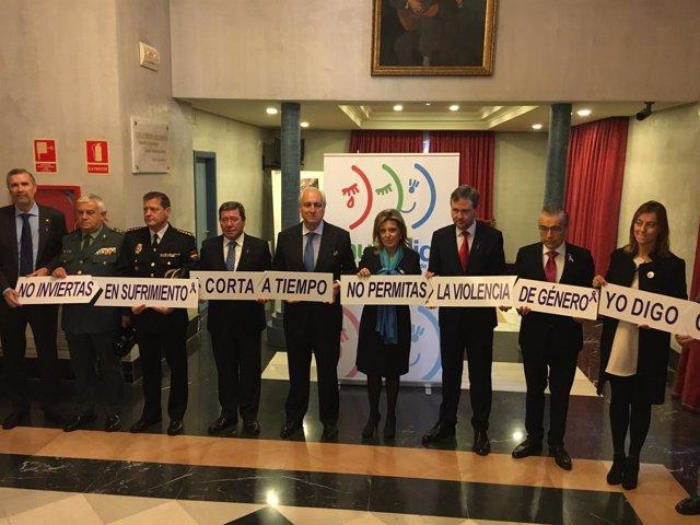 Salgueiro en Burgos contra la violencia de género.