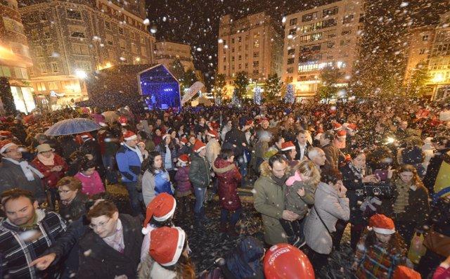 Encendido de las luces de Navidad en Santander