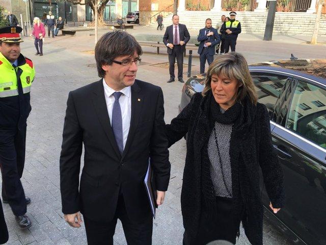 C.Puigdemont (pte.Generalitat) Núria Marín (alcaldesa L'Hospitalet de Llobregat)