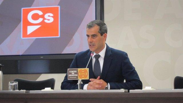 El diputado de Ciudadanos (Cs) en las Cortes autonómicas, Javier Martínez.