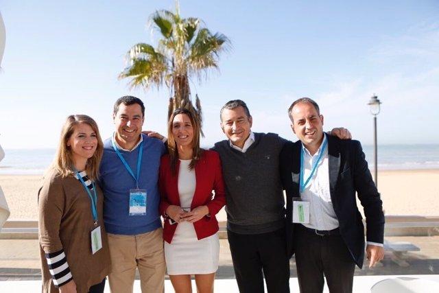 Moreno, hoy junto a dirigente del PP de Cádiz