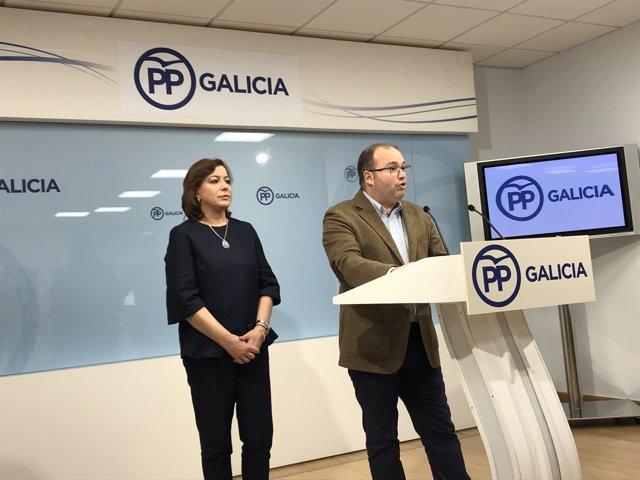 Rueda de prensa de Miguel Tellado y Susana López Abella