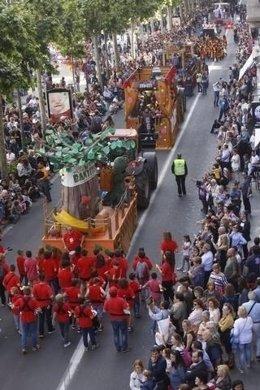 Batalla de las Flores de la Fiesta de Mayo de Lleida