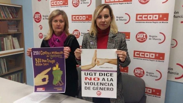 RUEDA D EPRENSA CCOO Y UGT VIOLENCIA MACHISTA