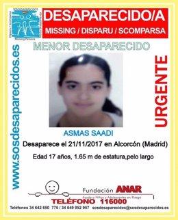 Desaparecida en Alcorcón