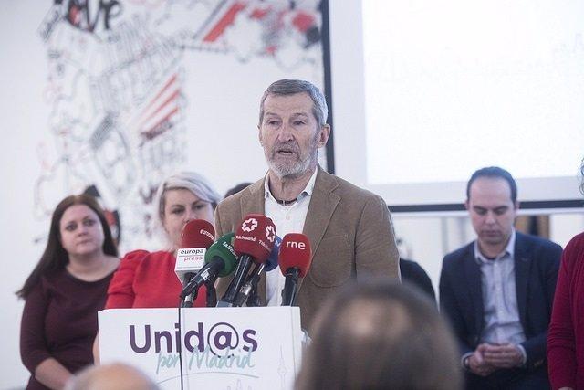 Julio Rodríguez, durante la presentación de su candidatura a Podemos Madrid