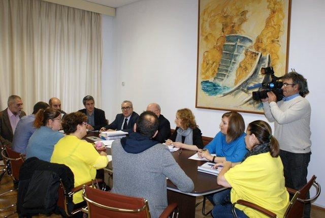 Reunión Gobierno, PRC, PSOE y Podemos