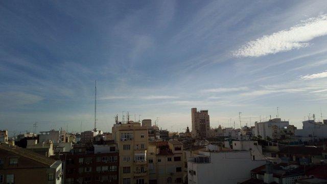 Cielo de València tras la activación del protocolo por contaminación