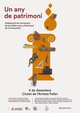 Cartel de la celebración 'Un any de patrimoni'