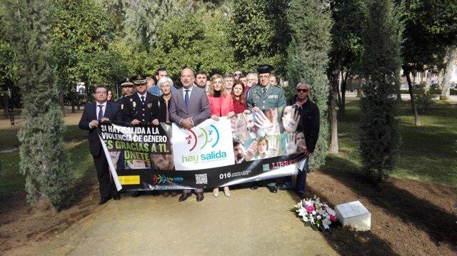 Acto contra la violencia de género en Sevilla