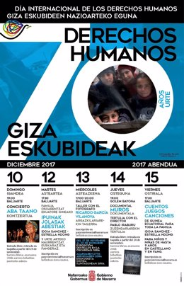 Cartel elaborado para celebrar el Día Internacional de los Derechos Humanos