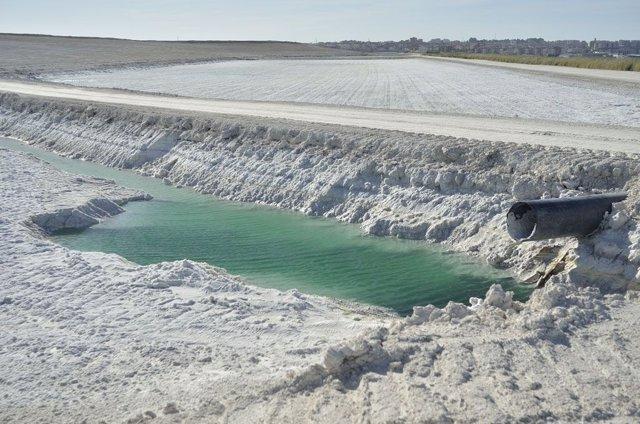 Estado de las balsas de fosfoyesos de Fertiberia en Huelva a fecha de 2014