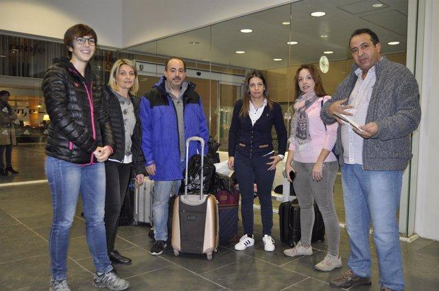 Imagen de la delegación de las Cortes de Aragón que visitará el Sáhara.