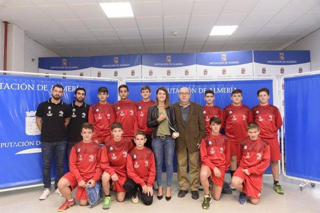 La Selección Infantil Masculina de Balonmano de Almería, campeona de Andalucía.