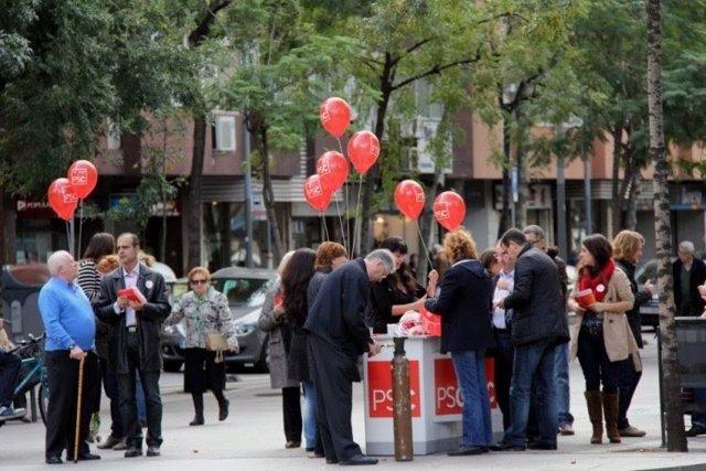 El PSC celebra un 'sábado rojo'