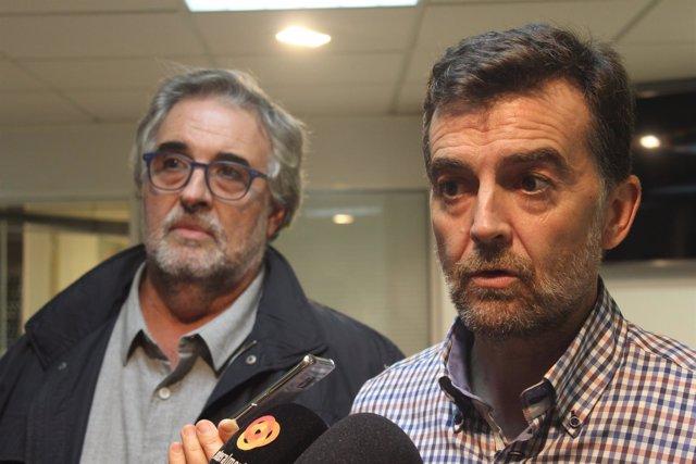 Antonio Maíllo (IU) y José Carlos Tejada
