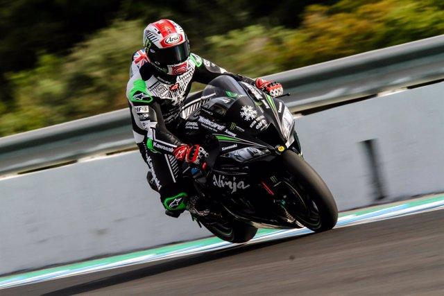 El piloto británico de Superbikes Jonathan Rea (Kawasaki)