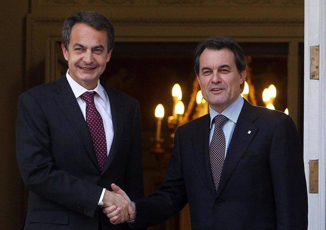 José Luis Rodríguez Zapatero y Arthur Mas