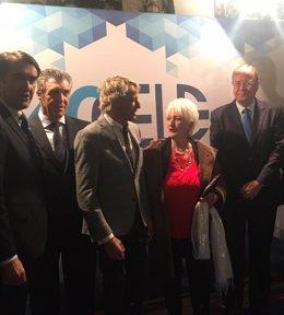 Quiñones en el premio de 'Empresario Leonés del año'