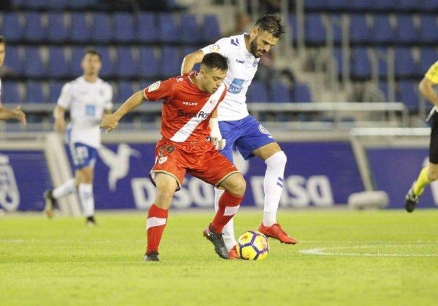Rayo y Tenerife se reparten los puntos