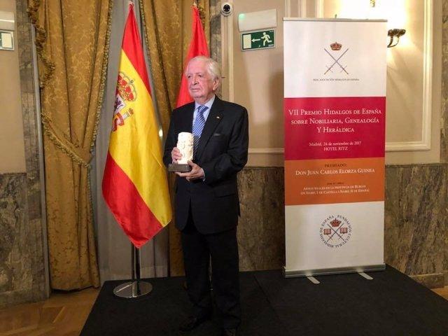Juan Carlos Elorza Guinea, Premio Hidalgos de España