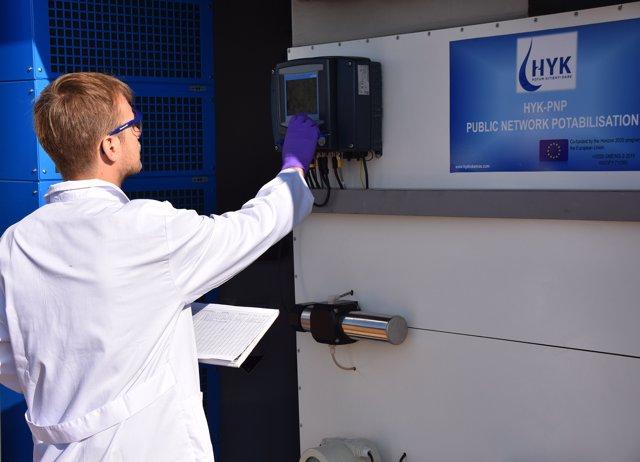 La planta d'eliminació de nitrats a Borrassà