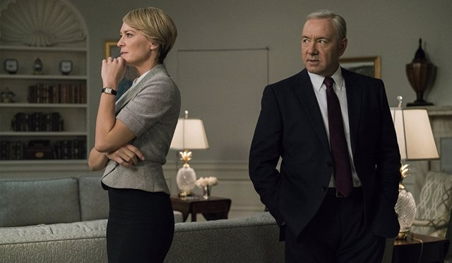 Robin Wright y Kevin Spacey en 'House of Cards'