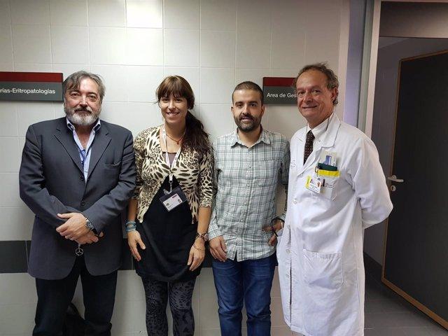 El equipo de Salvador Martínez