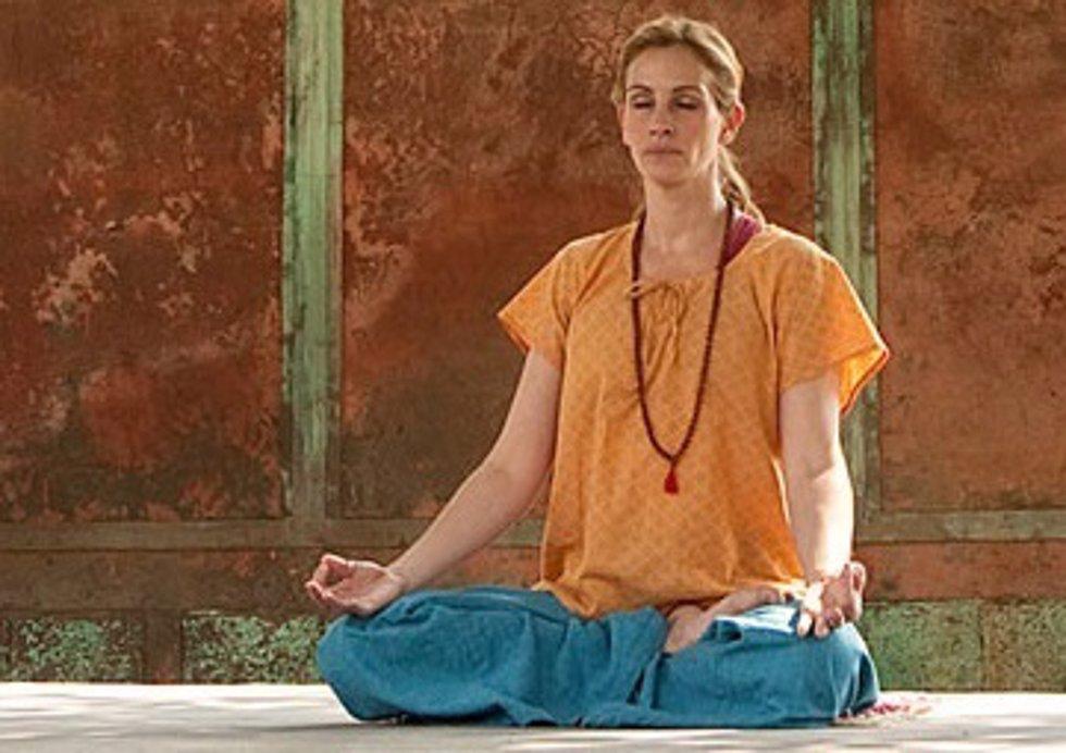 Julia roberts medita en comer, amar y rezar