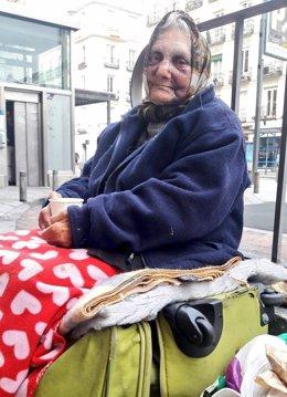 Flor, la anciana sin hogar víctima de la agresión