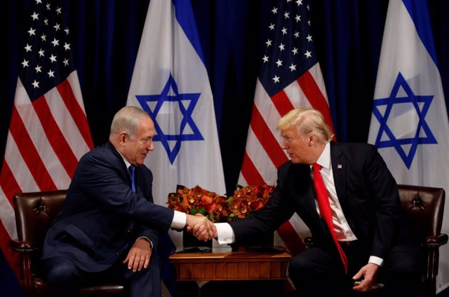 Donald Trump junto a Benjamin Netanyahu en Nueva York.