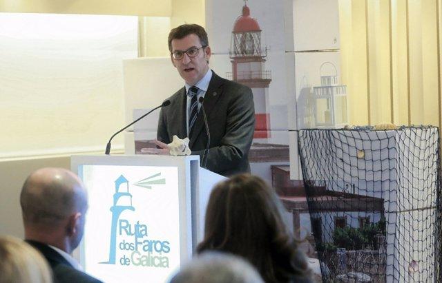 El presidente de la Xunta, Alberto Núñez Feijóo, presenta la Ruta de los Faros