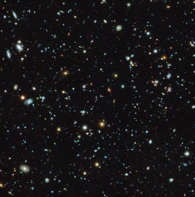 El campo de ultra fondo del Hubble visto con MUSE