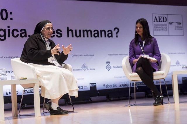 La monja Sor Lucía Caram, en las jornadas Reinvéntate Girona