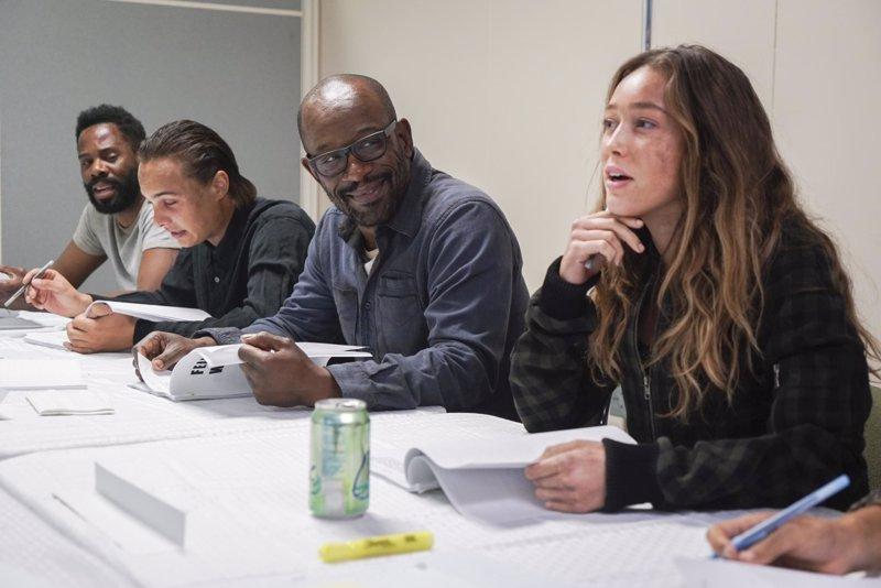 Así fue el primer día de Lennie James (Morgan) en Fear the Walking Dead