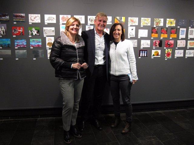 González, Aguelo y Palacín han presentado la muestra 'Postales desde el Limbo'