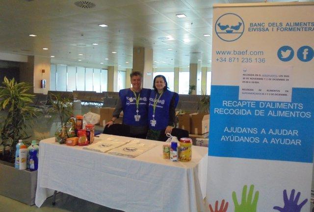 Fotonoticia Stand Banco De Alimentos Aeropuerto De Ibiza