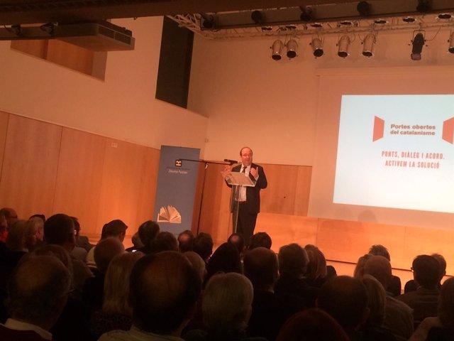 El candidato del PSC al 21-D, Miquel Iceta